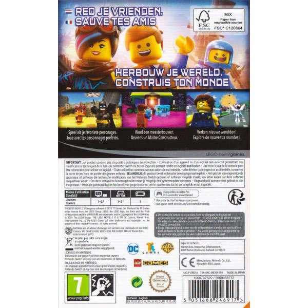 Nintendo The Lego Movie 2 Switch Red Buy And Offers On Techinn