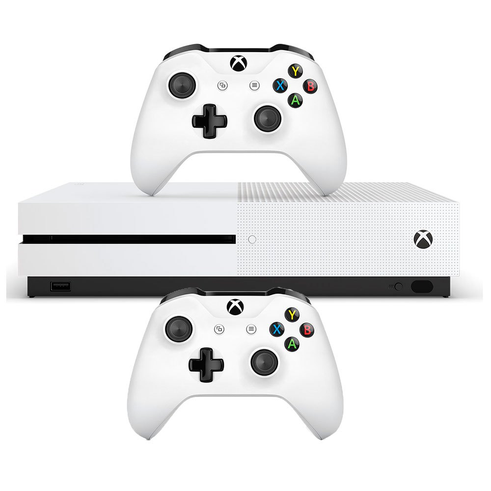 Microsoft xbox One S 1TB With 2 Controller White, Techinn