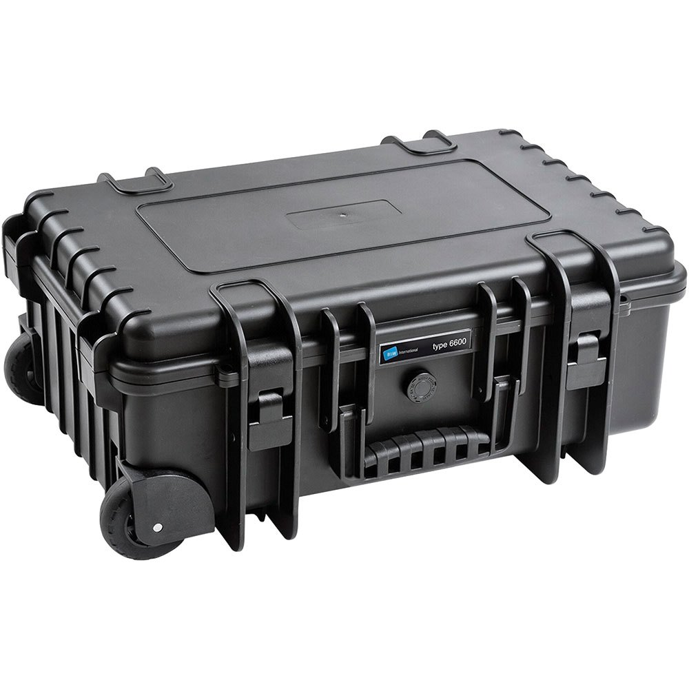 B W Outdoor Case Type 6600 B With Padded Divider Rpd Black Techinn