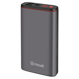 Muvit Power Bank 2 USB 2.4A Ports + Type C PD 3A 18W Port + 2 Micro USB/Type C Input Ports + LED Display