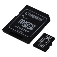 Kingston Canvas Select Plus Micro SD Class 10 16GB With SD Adapter