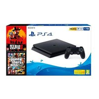 Sony PS4 1TB+Red Dead Redemption 2+GTA V Pack