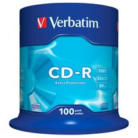 Verbatim CD-R 700MB Extra Protection 52x Speed 100 Units