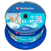 Verbatim CD-R 700MB Printable 52x Speed 50 Units