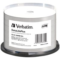 Verbatim Data Life Plus CD-R 700MB Printable 52x Speed 50 Units