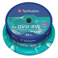 Verbatim DVD-RW 4.7GB 4x Speed 4 Units