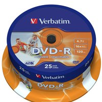 Verbatim DVD-R 4.7GB Printable 16x Speed 25 Units