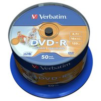 Verbatim DVD-R 4.7GB Printable 16x Speed 50 Units