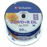 Verbatim 50 DVD+R DL Wide 8x Life Series