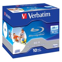 Verbatim BD-R Blu-Ray 25GB 6x Printable 10 Units