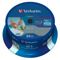 Verbatim BD-R Blu-Ray 25GB 6x DL Wide Printable CB 25 Units