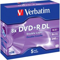 Verbatim DVD+R Double Layer 8x 8.5GB 5 Units