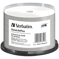 Verbatim DVD+R Double Layer 8x 8.5GB Thermal Printable 50 Units