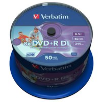 Verbatim DVD+R Double Layer 8x 8.5GB Wide Printable 50 Units